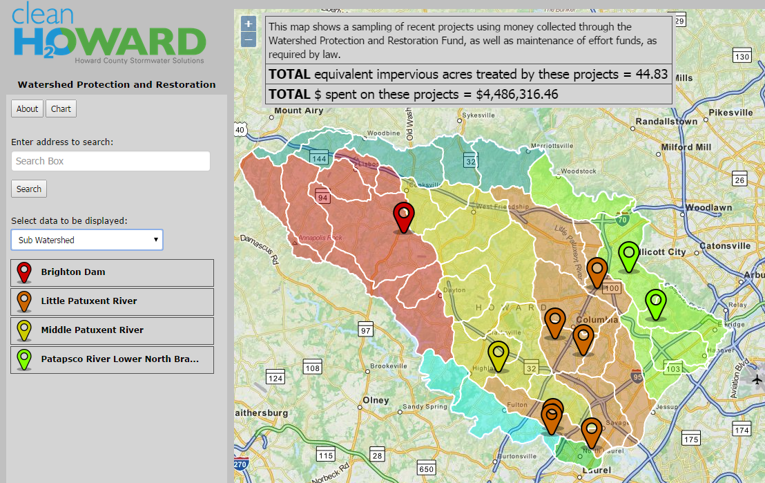 project map howard county stormwater