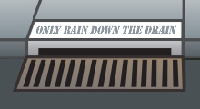 Only rain down the drain